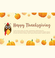 happy thanksgiving pumpkin background collection vector image vector image