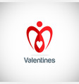 Heart love valentine logo