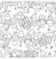 Ice cream seamless patternHand drawn vector image