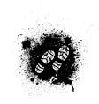 Ink blots and footprint vector image vector image