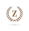 Letter Z laurel wreath logo icon design template vector image vector image