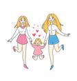lgbt lesbian family concept woman couple vector image
