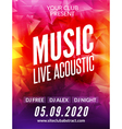Live music acoustic poster design temple Live show vector image