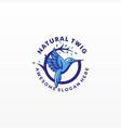 logo fly bird vintage badge style vector image