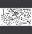lucknow india city map in retro style outline map vector image vector image