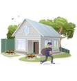 Male thief robbed house Burglaries Property vector image