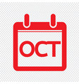 month calendar icon sign design style vector image