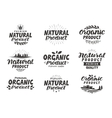 Natural Organic product icons or symbols vector image vector image