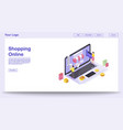 online shopping webpage template vector image