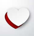 Paper white heart vector image