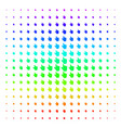 pointer finger shape halftone spectral effect vector image vector image