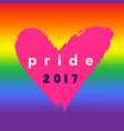 pride 2017 inspirational gay pride poster vector image vector image
