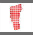 red dot map of vermont vector image