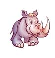 rhino in cartoon style vector image