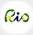 rio banner vector image vector image