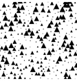 Seamless black white abstract pattern Memphis vector image vector image