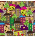 seamless colorful city vector image