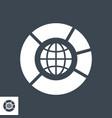 seo data glyph icon vector image vector image