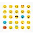 Set of emoticons emoji isolated vector image vector image
