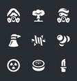 set of post-apocalypse icons vector image vector image