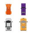 set of top views of cars vector image vector image