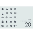 Set of warehouse logistics icons vector image vector image