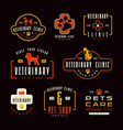 set veterinary clinic labels vector image vector image
