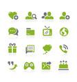 social communications icons natura series vector image vector image