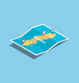 sweden explore maps country nation with isometric vector image vector image