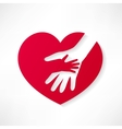 the human heart rescue people vector image vector image