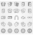 Thin line poker or casino icons set vector image vector image