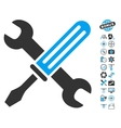 Tools Icon With Copter Tools Bonus vector image vector image