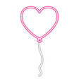 valentine day neon vector image vector image