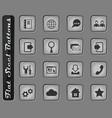 web tools icon set vector image