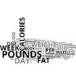 what is reasonable weight loss text word cloud vector image vector image