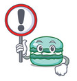with sign macaron character cartoon style vector image vector image
