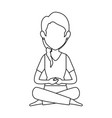 woman practicing yoga avatar vector image