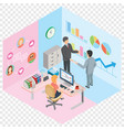 work men and women in same room vector image