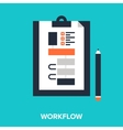 workflow vector image