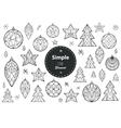 Christmas decoration elements vector image