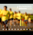 Running people blurred infographic vector image