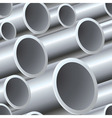 3D seamless steel pipes pattern vector image