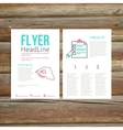 Abstract Brochure Flyer design checklist vector image vector image