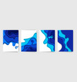 abstract color paper art set vector image vector image