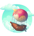 air ship in clouds vector image vector image