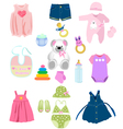 Baby girl elements vector | Price: 1 Credit (USD $1)