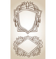 border frame engraving ornament vector image vector image