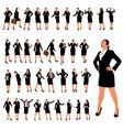 businesswoman set 2 vector image vector image