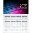 Calendar 2015 design on abstract color background vector image