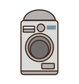 cartoon washing machine home appliance vector image